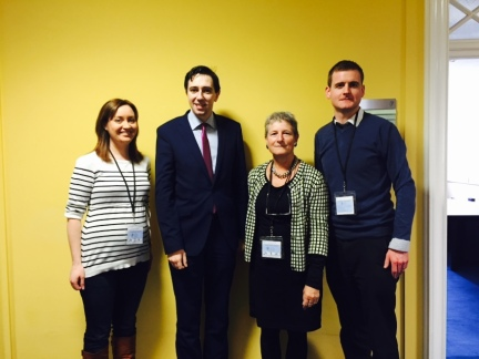 Pictured with Minister Simon Harris and Cormac Cahill of Inclusion Ireland following positive meetings regarding Changing Places Initiati